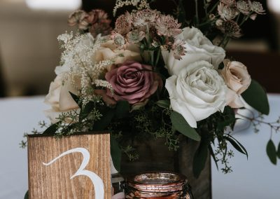 Tabletop Bouquests for Wedding Reception